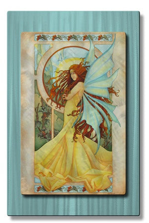 Summer Breeze Fairy - Metal Wall Art Decor - Teri Rosario