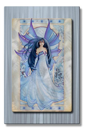 Icy Winter Fairy - Metal Wall Art Decor - Teri Rosario