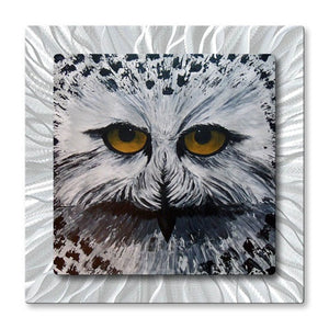The Snowy Hunter - Metal Wall Art Decor - Brittney Hallowell