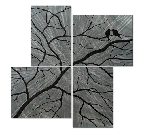 Trees & Leaves Metal Wall Art