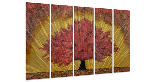 Autumns Gift Contemporary Modern Metal Wall Art By Brittney Hallowell