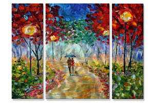 Night Walk in the Park - Metal Wall Art Decor - Karen Tarlton