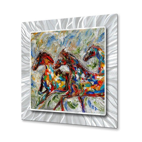 Wild Horses - Metal Wall Art Decor - Karen Tarlton