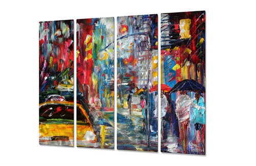 New York Rain - Metal Wall Art Decor - Karen Tarlton
