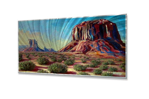 Early Morning Sunrise at Monument Valley - Contemporary Metal Wall Hanging - Sandy Farley