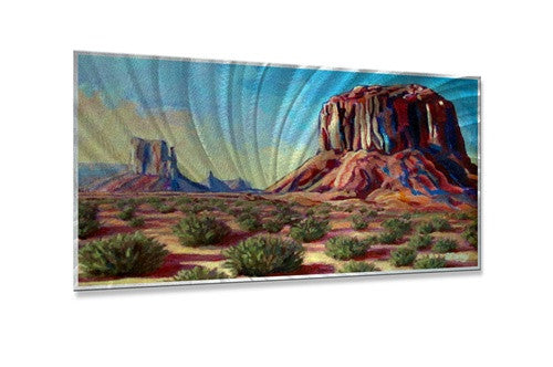 Early Morning Sunrise at Monument Valley - Metal Wall Art Sculpture - Sandy Farley