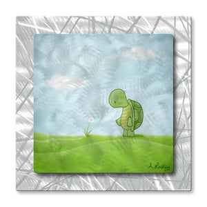 Turtle Wishes - Metal Wall Art Decor - ALL Artsy