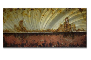 City in Conflict - Metal Wall Art Decor - Roger Silva