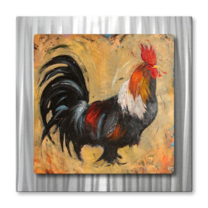 Rooster - Painted Steel Metal Welded Wall Art Decor - Rosilyn Young