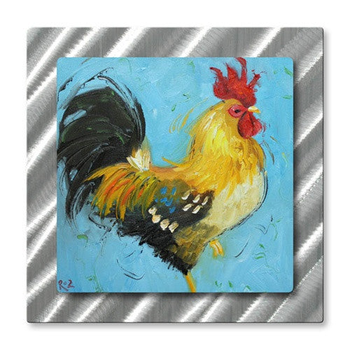 Rooster #497 - Metal Wall Art Decor - Rosilyn Young