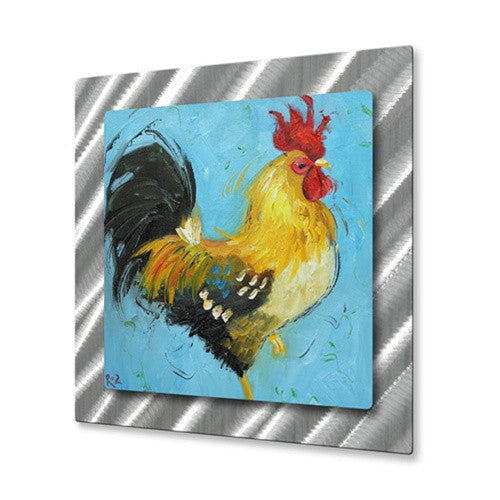 Rooster #497 - Contemporary Metal Wall Hanging - Rosilyn Young