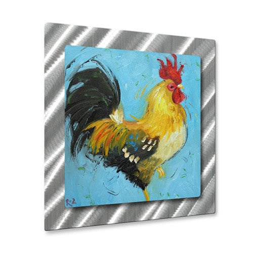 Rooster #497 - Metal Wall Art Sculpture - Rosilyn Young
