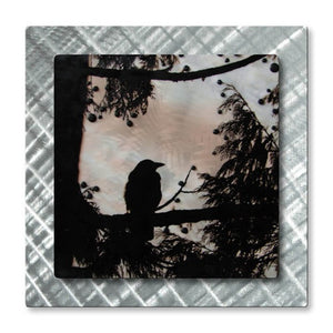 West coast Blackbird - Metal Wall Art Decor - Kas Shield