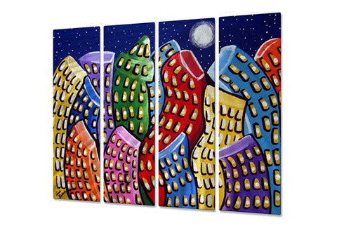 Dancing City - Metal Wall Art Decor - Renie Britenbucher