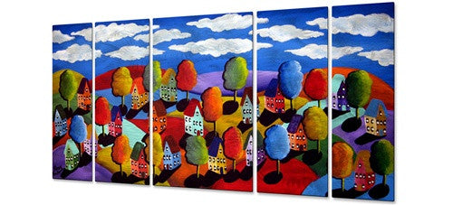 Colorful Landscape - Metal Wall Art Decor - Renie Britenbucher