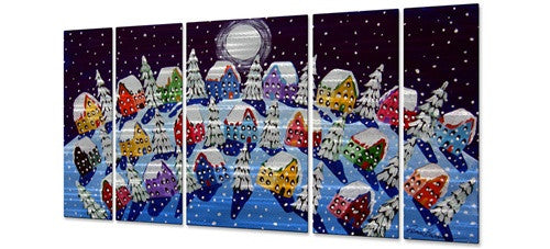 Silent Night - Metal Wall Art Decor - Renie Britenbucher
