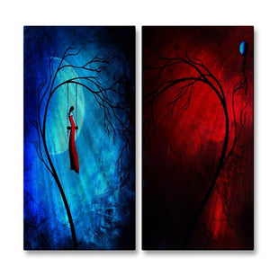 Heartache and Poetry 36... Fire and Ice - Metal Wall Art Decor - Jaime Zatloukal Best