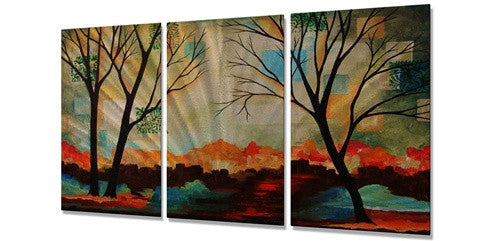 Abstract Forest - Metal Wall Art Decor - Peggy Davis