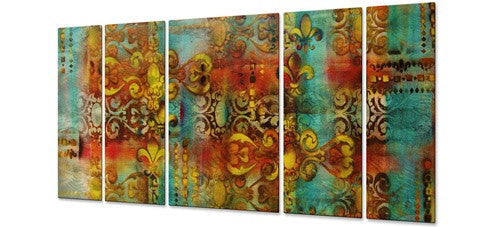 Tapestry - Painted Steel Metal Welded Wall Art Decor - Peggy Davis
