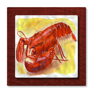 Lobster - Metal Wall Art Decor - Stephanie Kriza
