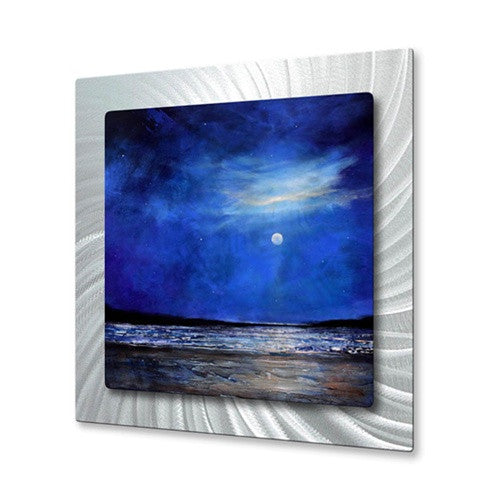 Blue Night Light - Metal Wall Art Decor - Toni Grote