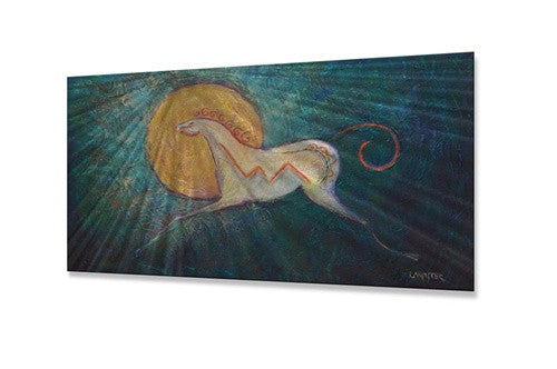 Amber Moon - Metal Wall Art Decor - Diana Lancaster