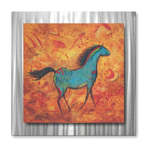 The Painted Sky - Metal Wall Art Decor - Diana Lancaster