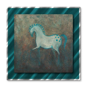 Aqua Appaloosa - Metal Wall Art Decor - Diana Lancaster