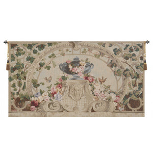 Beauvais Green Leaves No Border Decor Tapestry