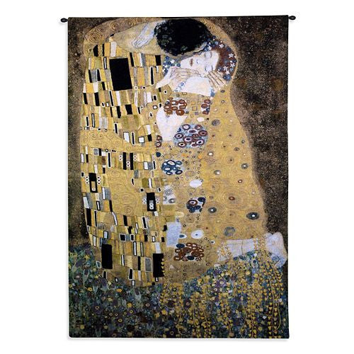 The Kiss by Klimt Woven Wall Textile Tapestry