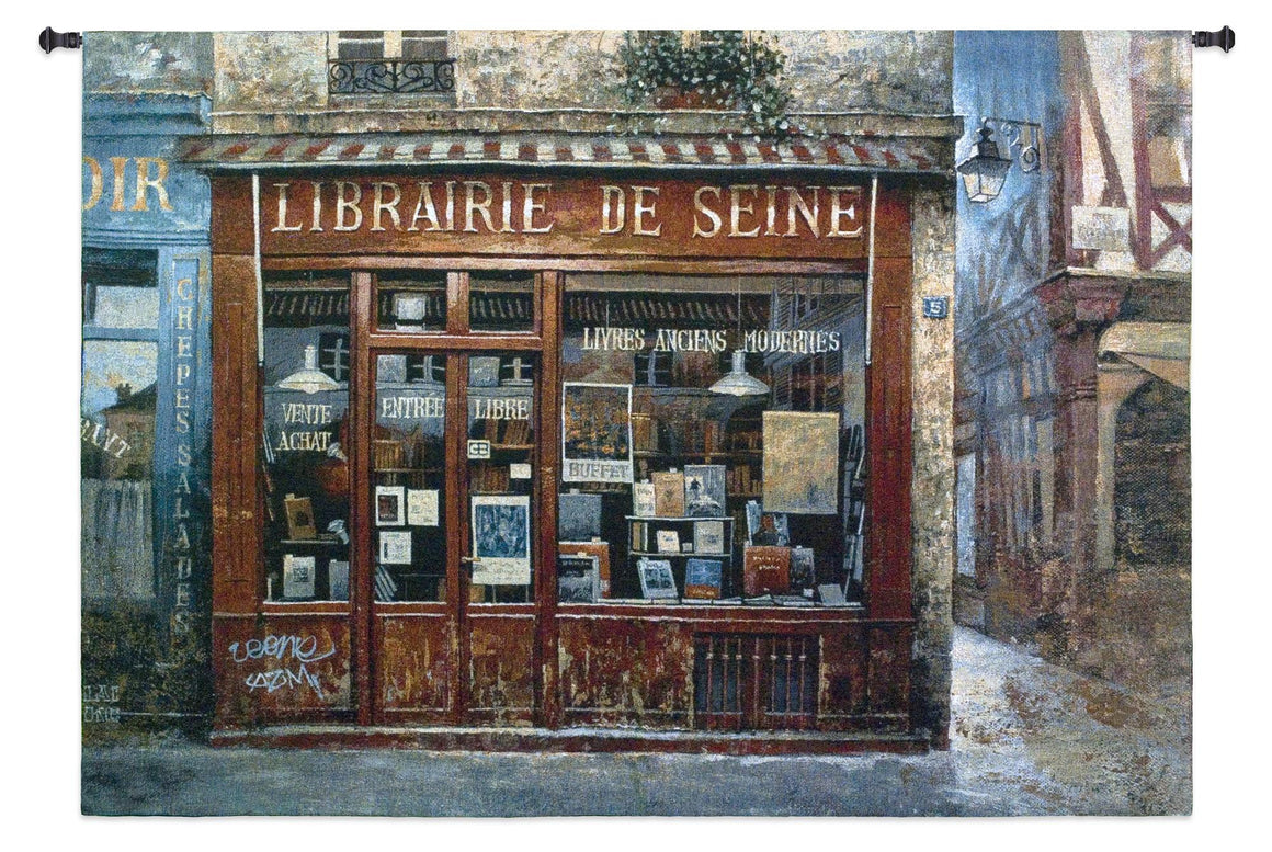 Librairie De Seine Tapestry Wall Hangings