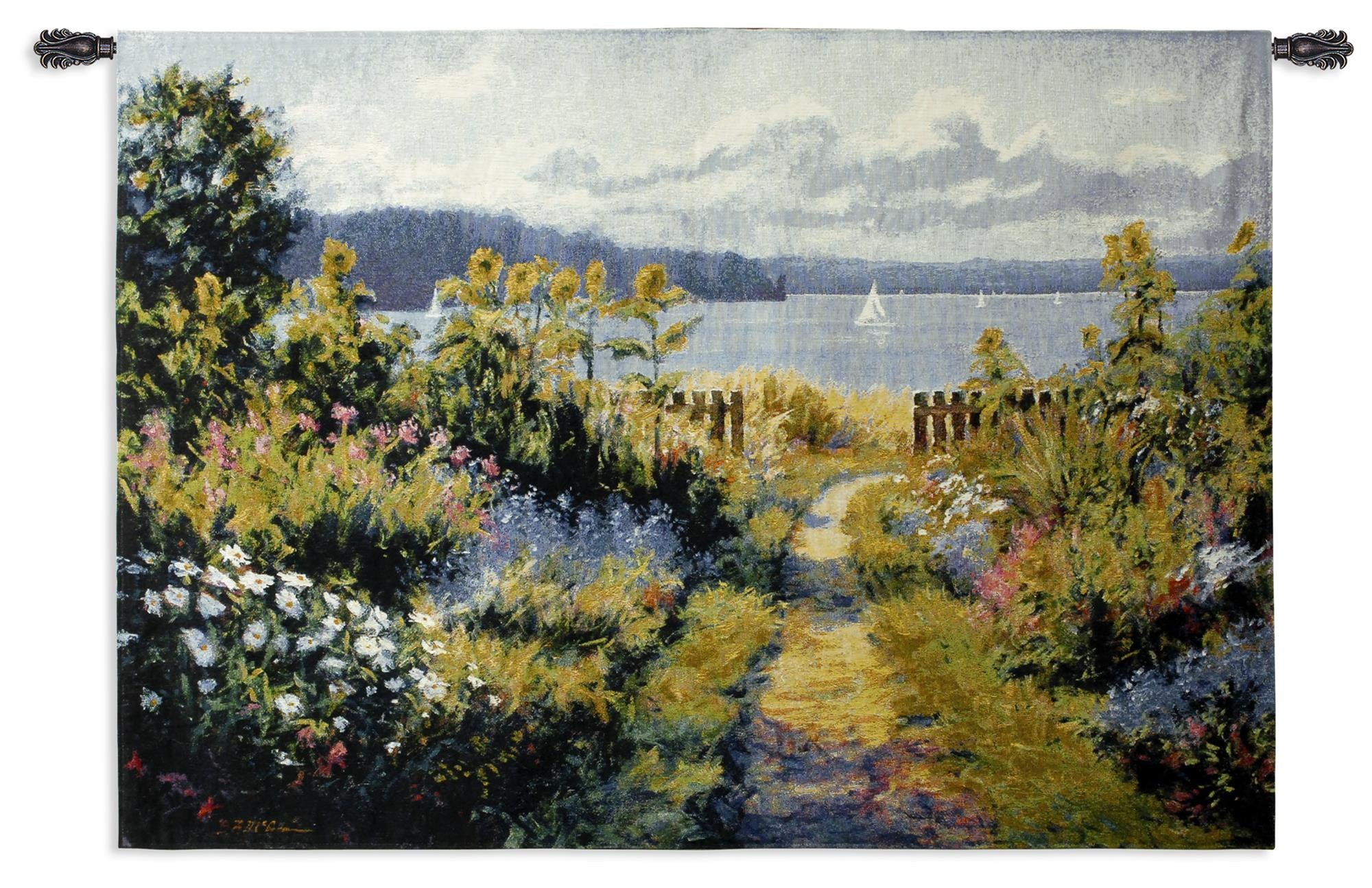 Garden View Woven Wall Tapestry