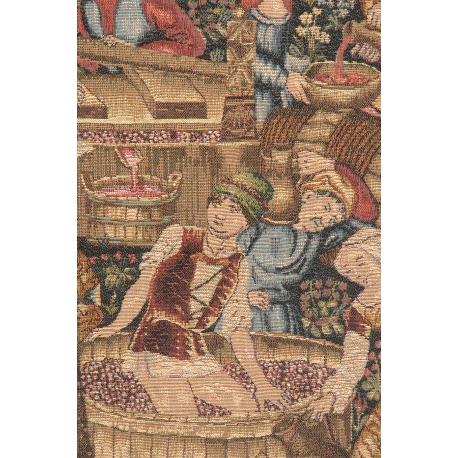 Green Vineyard Grandes Vendanges French Wall Tapestry