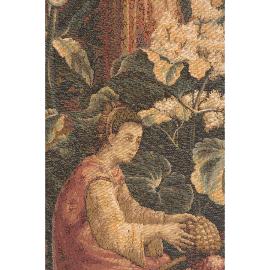 Green Port Des Ananas Right Door French Decor Wall Tapestry