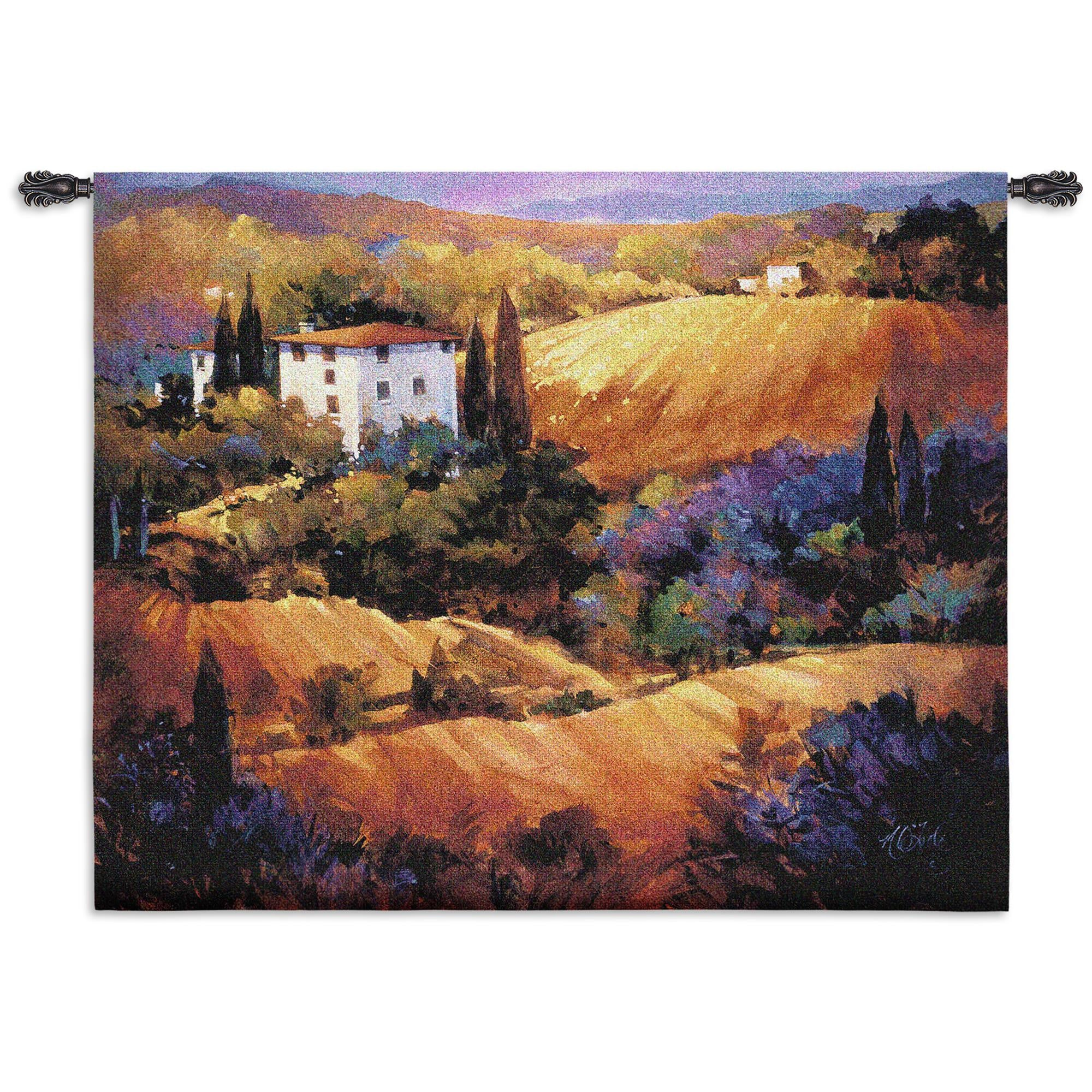 Evening Glow Wall Textile Tapestry