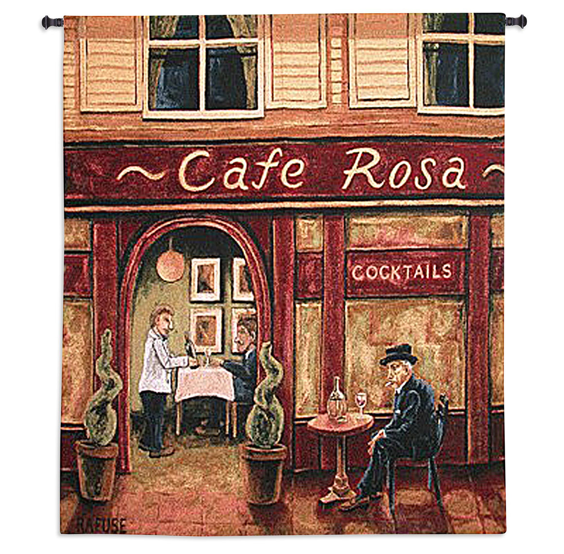 Cafe Rosa Tapestry Wall Hanging