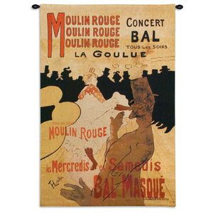Moulin Rouge Poster Vintage Cotton Tapestry