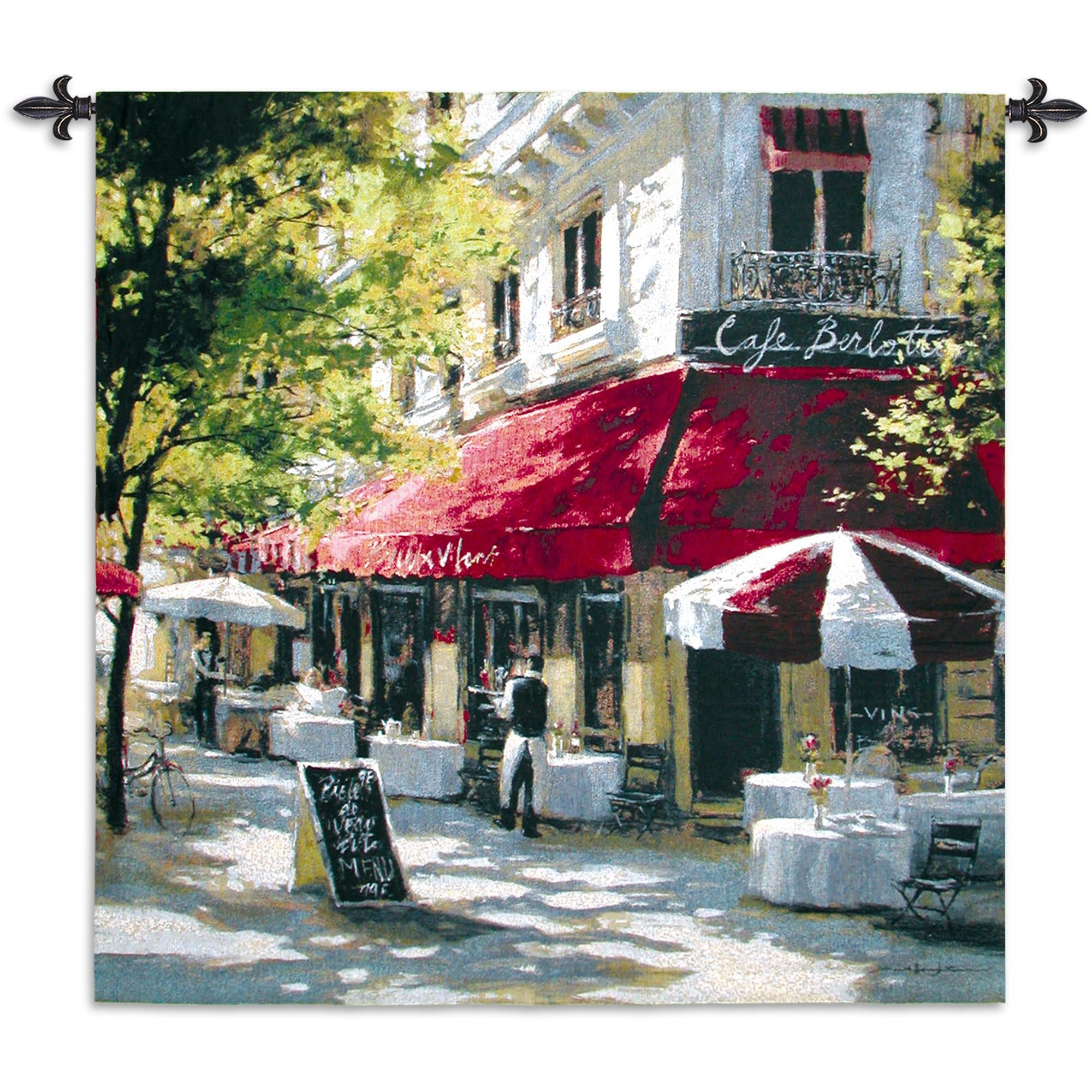 Cafe Francette Hand Finished European Style Woven Wall Tapestry