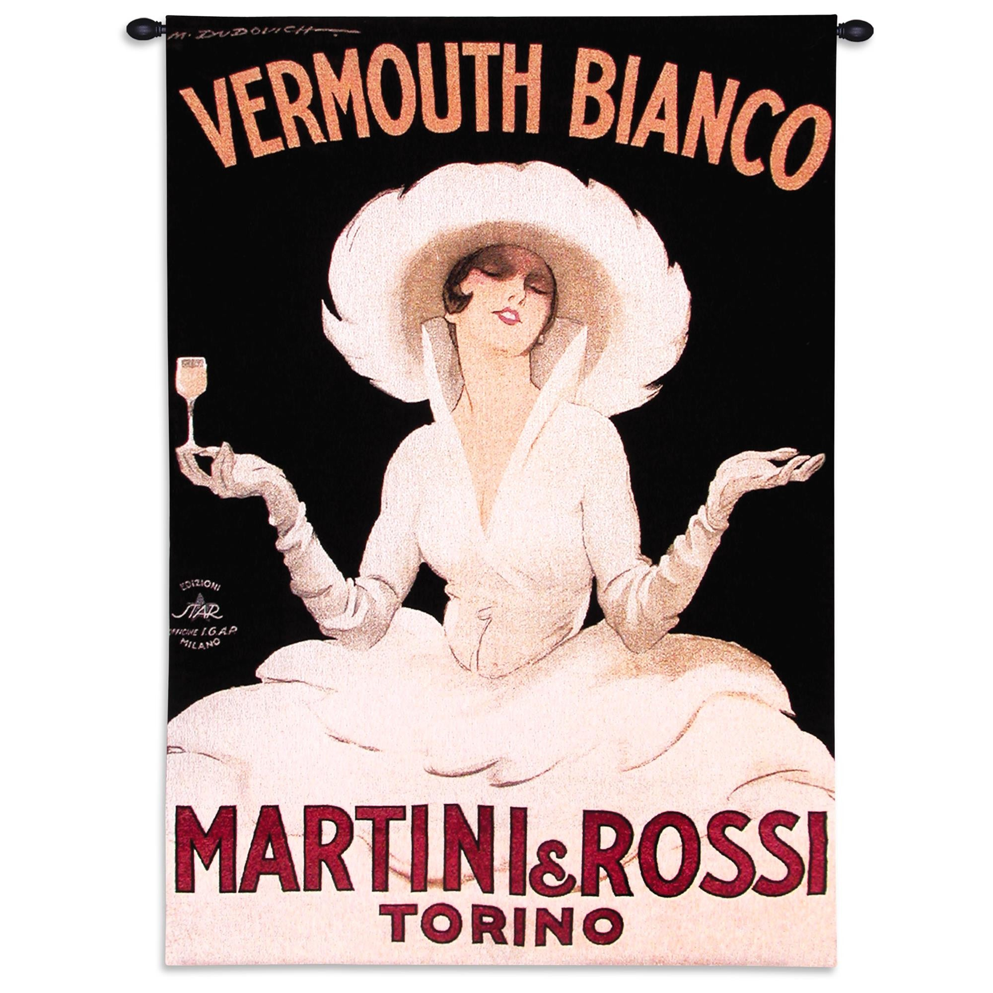 Martini and Rossi Torino Tapestry Wall Hanging