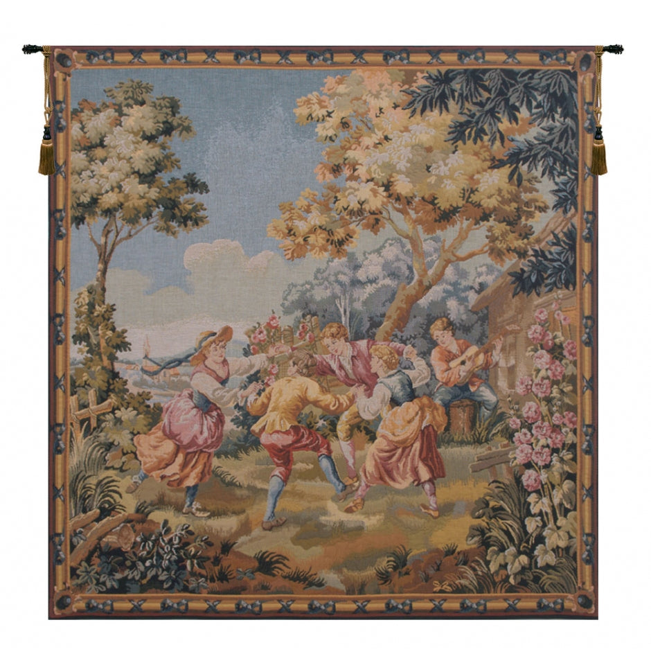 Blue Green Children European Wall Hanging Tapestry