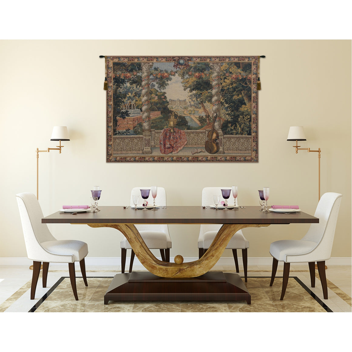 Domaine d'Enghien European Wall Hanging Tapestry