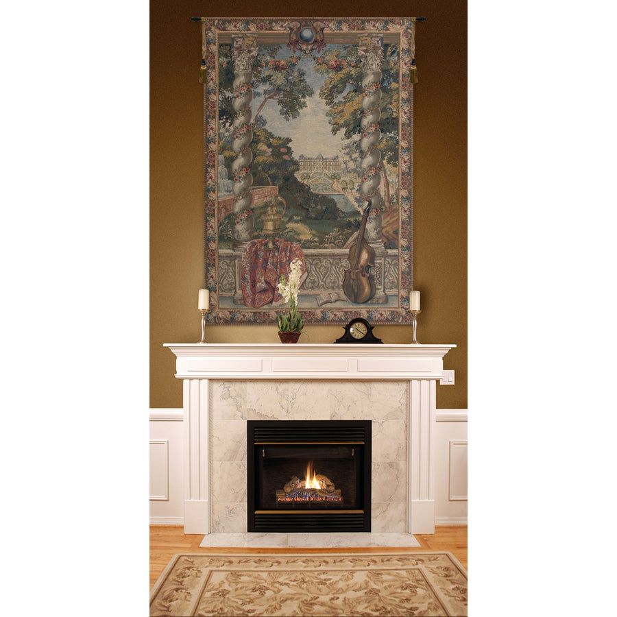 Green Chateau D European Wall Hanging Tapestry
