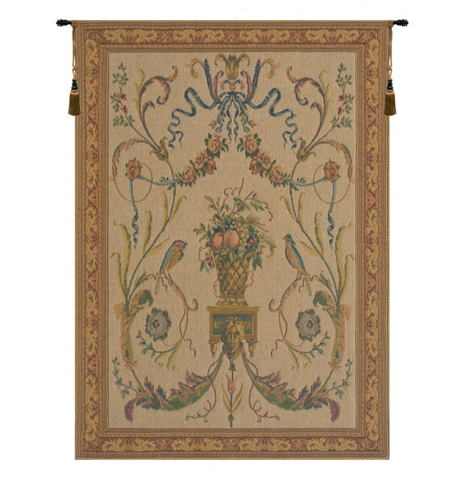 Birds Beige European Wall Hanging Tapestry