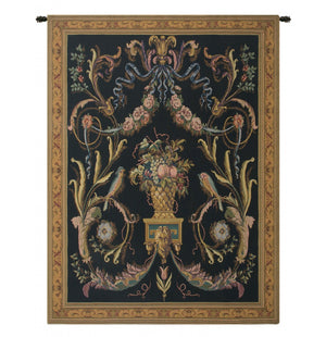 Birds Black European Wall Hanging Tapestry