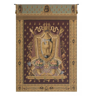 Napolean Burgundy European Wall Hanging Tapestry