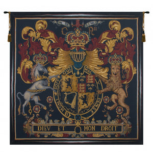 Red Stuart Crest European Wall Hanging Tapestry