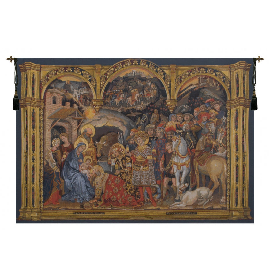 Adorazione Horizontal European Wall Hanging Tapestry