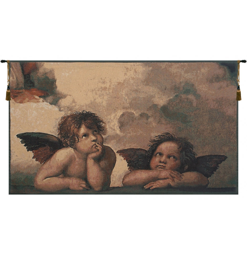 Angels by Raffael European Wall Hanging Tapestry