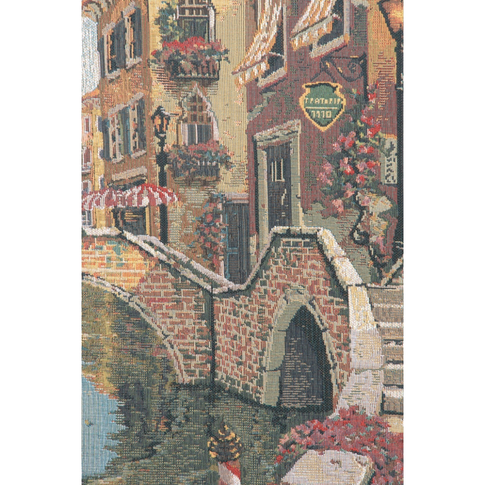 Large Cream Venice Italy Woven Wall Decor Hanging