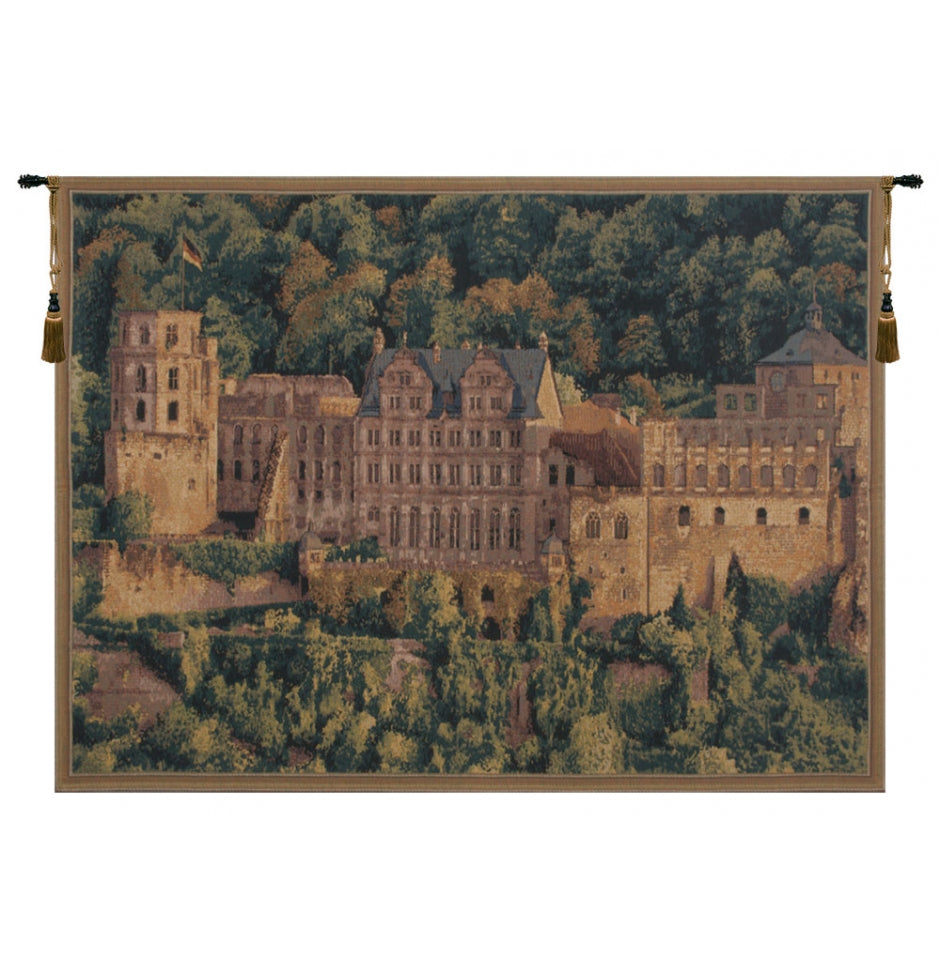 Famous Heidelberg European Wall Hanging Tapestry